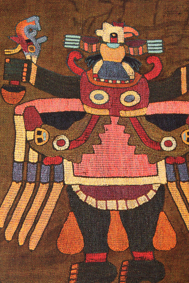 Couleurs inspirantes des textiles Paracas